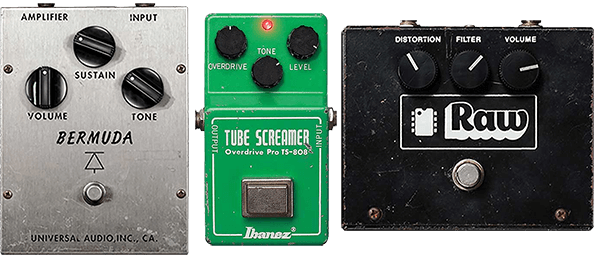 Big Muff, Tube Screamer, RAT