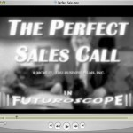 Title for a video that parodies the good-ole-boy sales networking of the 1950s. I added extensive film damage like scratches, hairs, grain, defocus, bloom, and gate weave, along with lo-fi sound right out of a post-war newsreel.