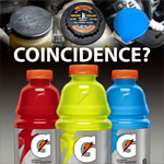 I find it peculiar these so-called performance fluids are the same colors and have wide-mouth caps.